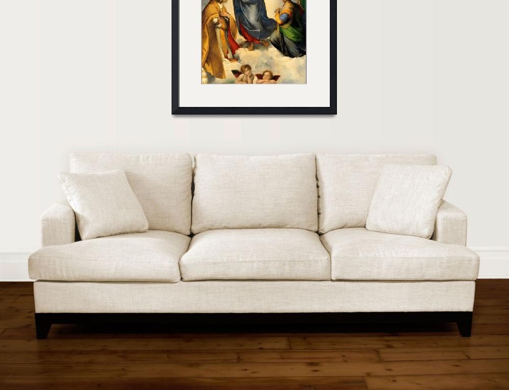"""Sistine Madonna Virgin Mary and Child Jesus Art&quot  (1910) by Maggy"