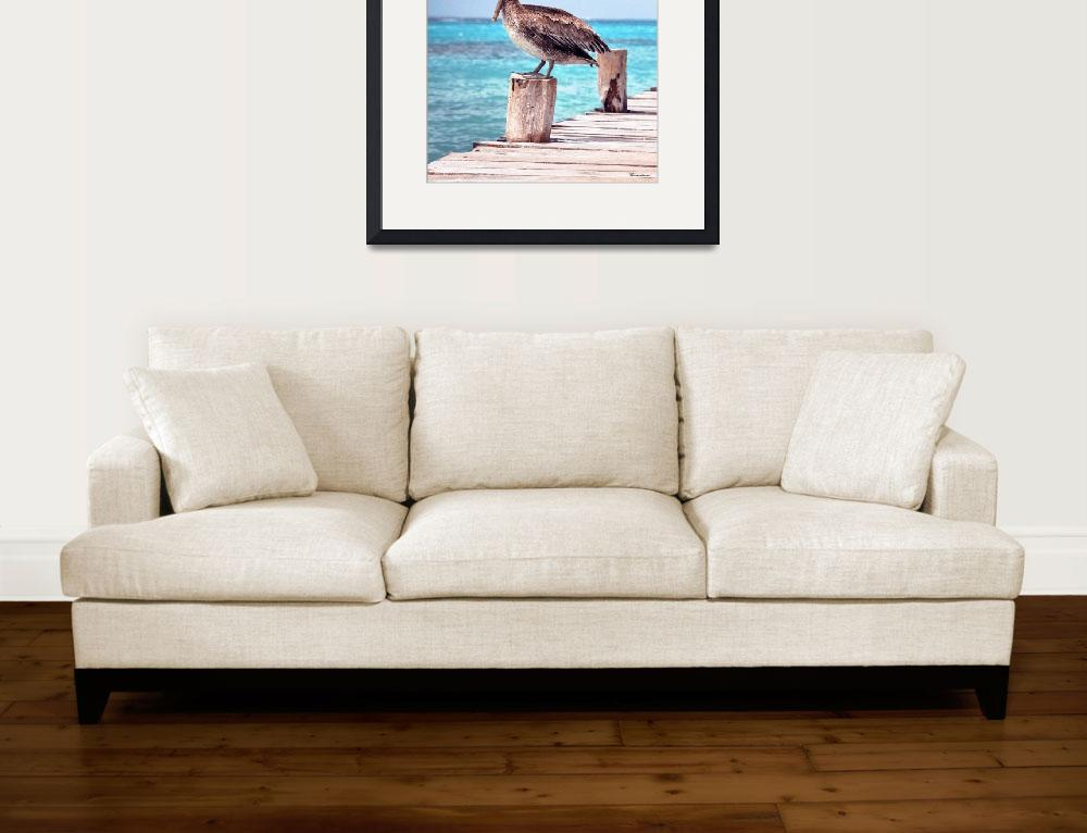 """Treasure Coast Pelican Pier Sunrise Seascape C2&quot  (2015) by Ricardos"