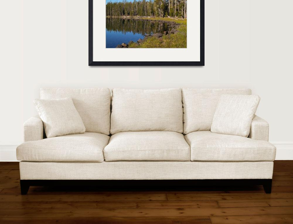 """Triangle Lake, Caribou Wilderness Area&quot  by Michele"
