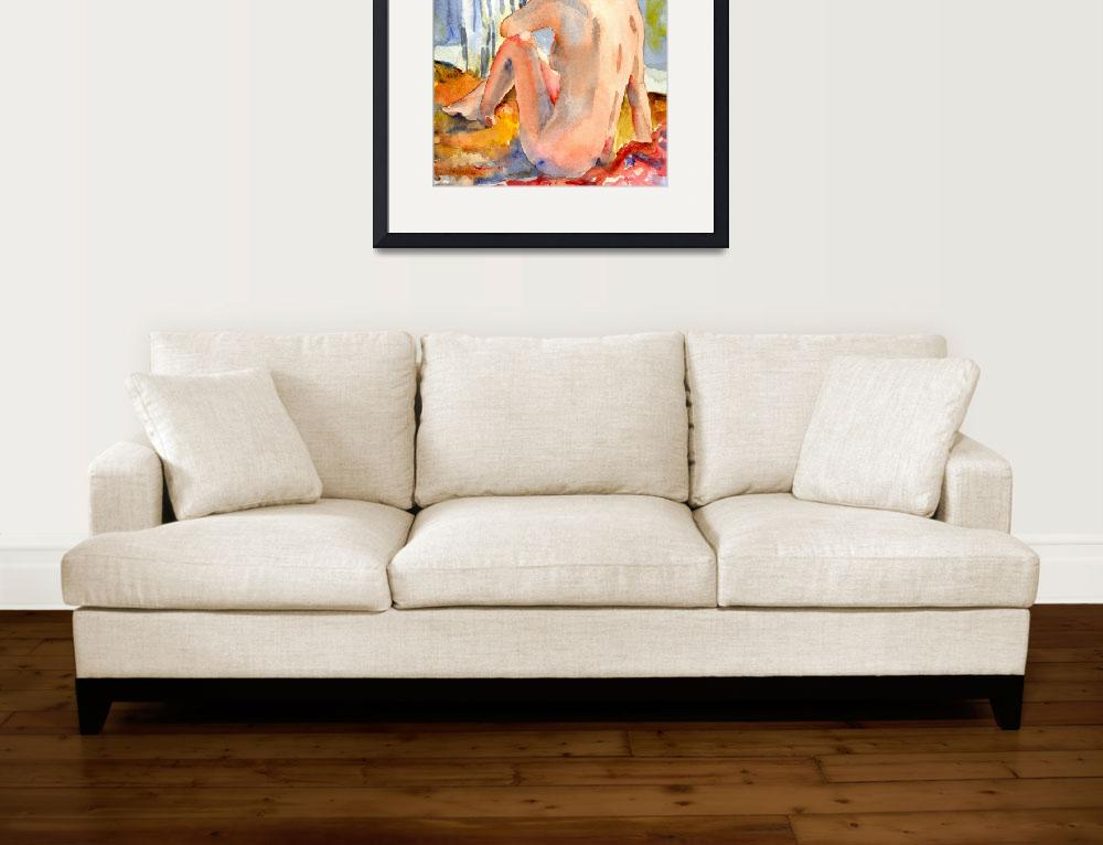 """Sun Bather, Nude Female Art&quot  (2008) by schulmanart"