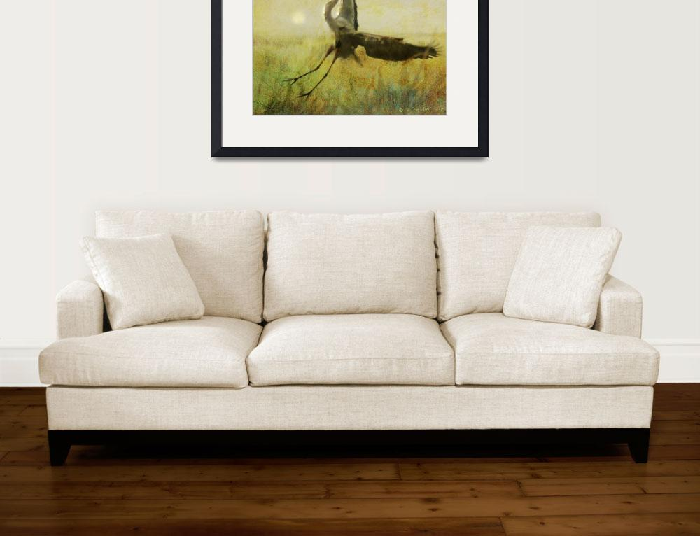 """heron flight in fog&quot  (2009) by rchristophervest"