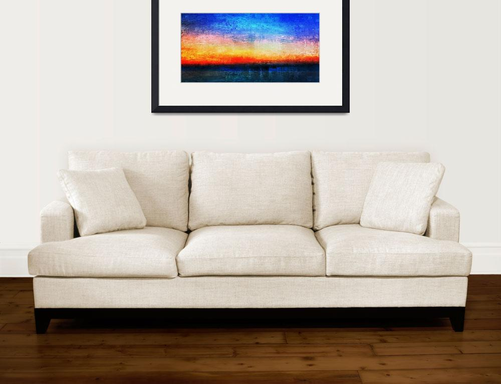 """15a Abstract Seascape Sunrise Painting Digital&quot  (2016) by Ricardos"