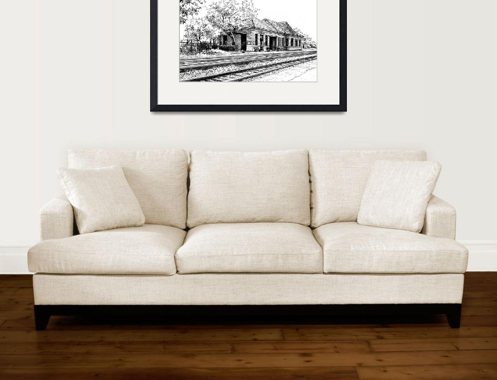 """Hinsdale Train Station&quot  (2015) by marypalmer"