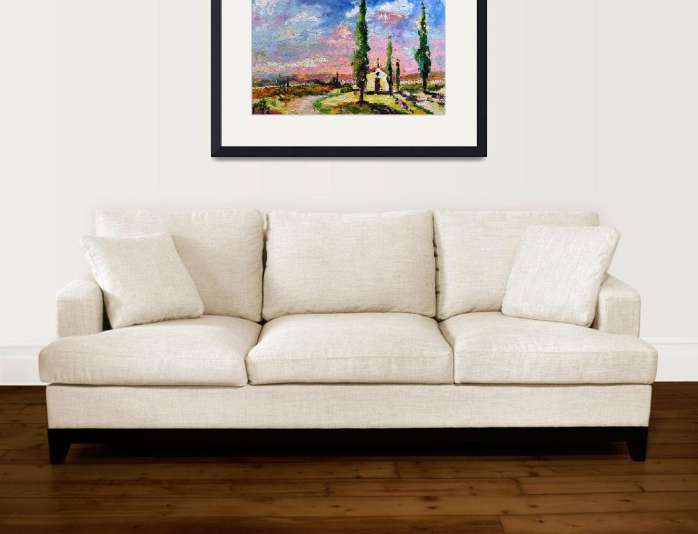 """Tuscany Italy - My Secret Place Oil Painting by Gi&quot  (2008) by GinetteCallaway"