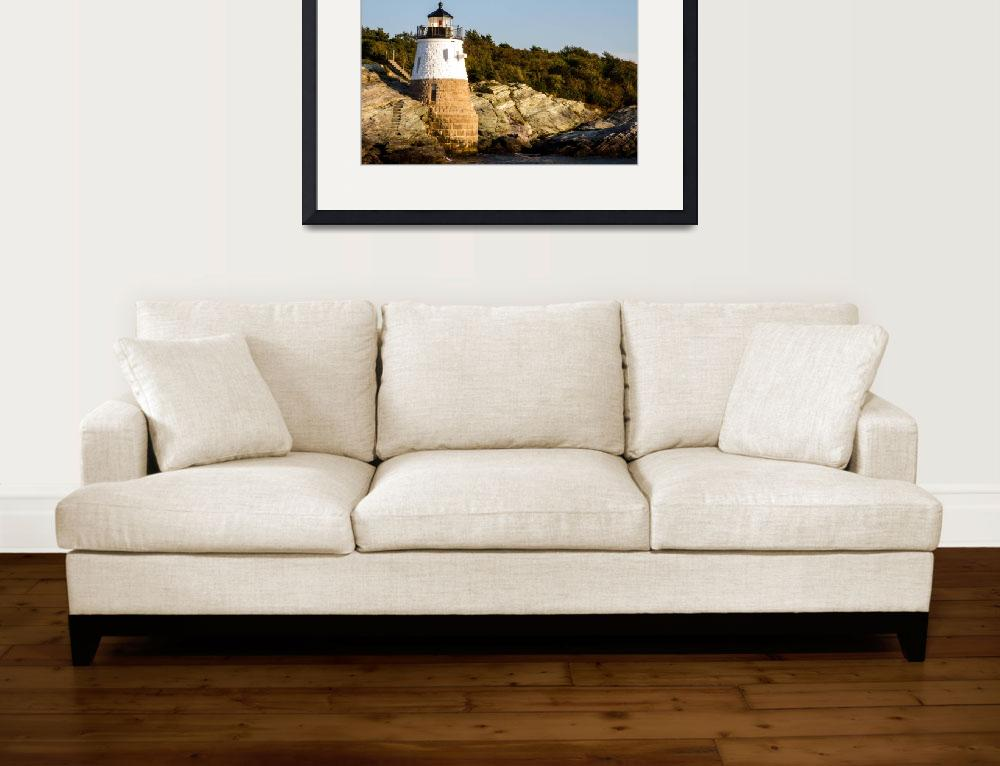 """Newport Harbor Castle Lighthouse-2&quot  by pixelcene"