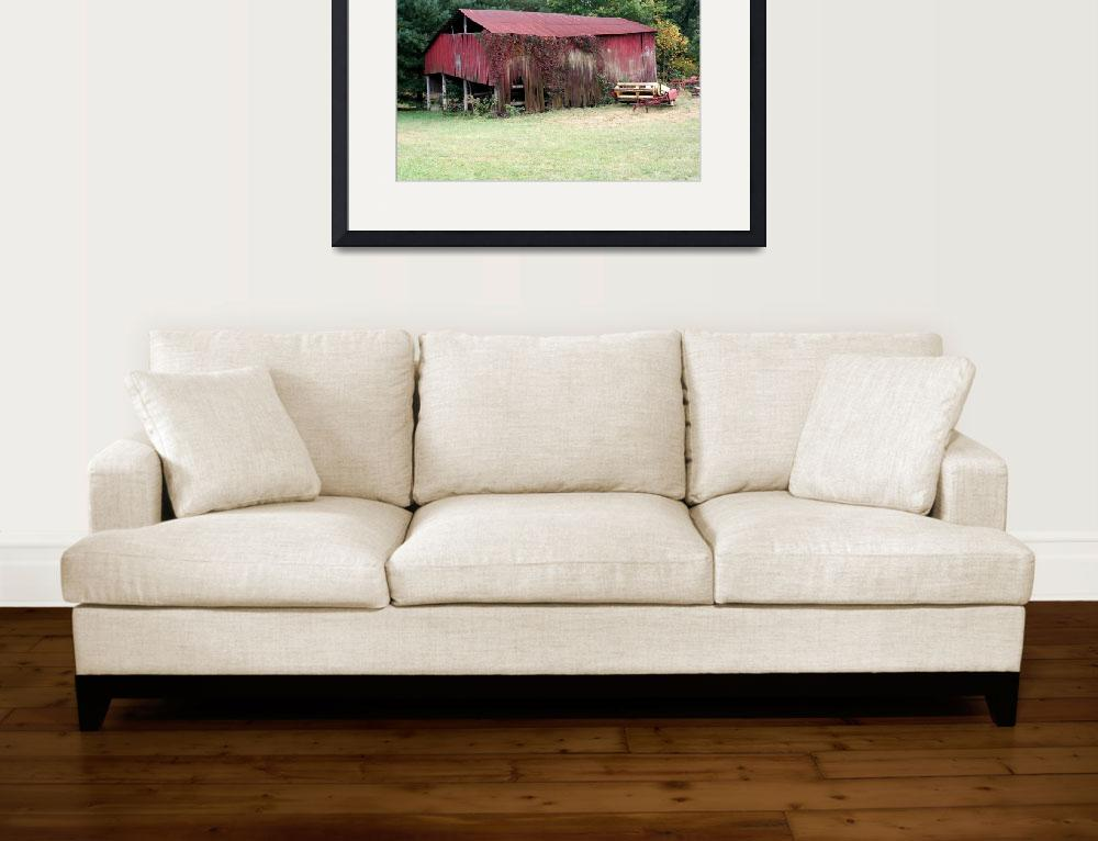 """Red barn sence Southern Ohio&quot  by sherryswest"