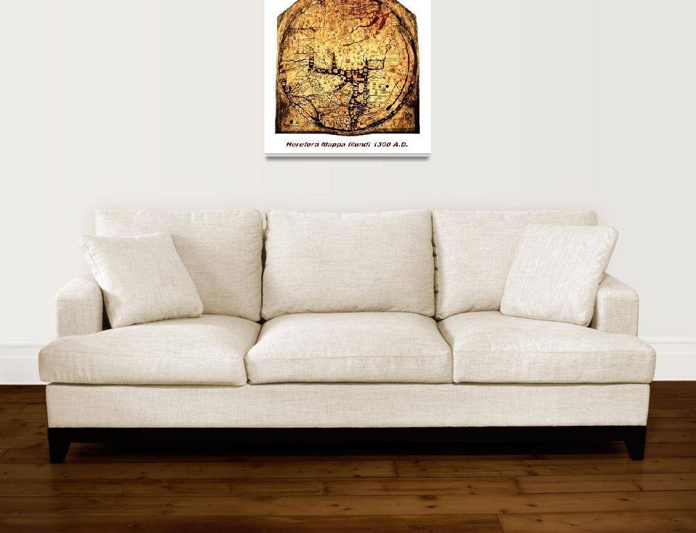 """Hereford Mappa Mundi 1300 Medium Large White Borde&quot  (2014) by TheNorthernTerritory"