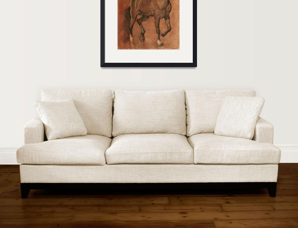 """brown-horse-drawing&quot  (2002) by Ezartesa"
