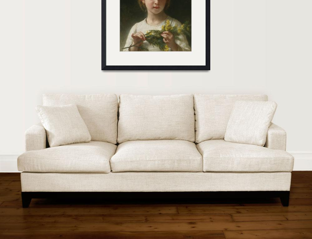 """William-Adolphe Bouguereau, mimosa-the-mimosa-flow&quot  by motionage"