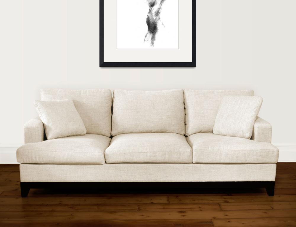 """Charcoal Nude Gesture Sketch  N14&quot  (2005) by lucyartdecor"