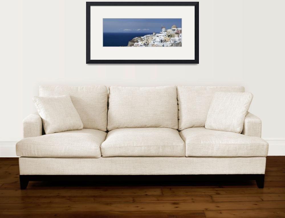 """Panorama of Santorini&quot  (2012) by emporoslight"