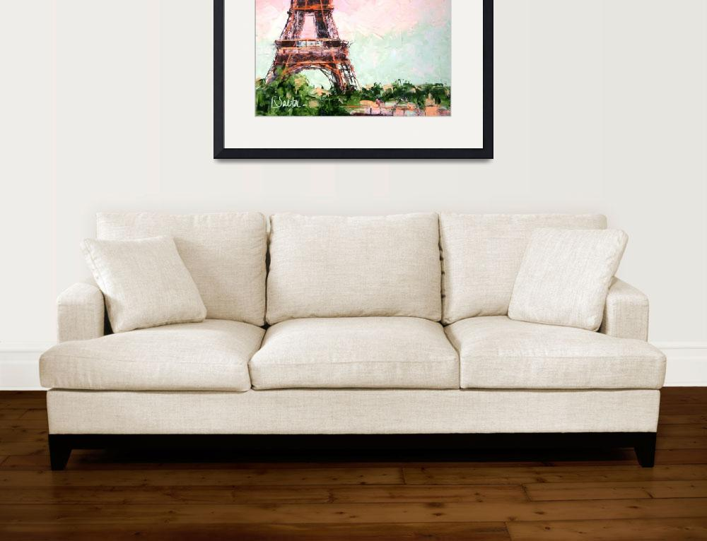 """Eiffel Tower&quot  (2010) by LeslieSaetaFineArt"