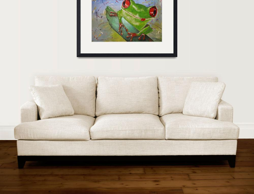 """happy frog&quot  (2013) by gallerymay"