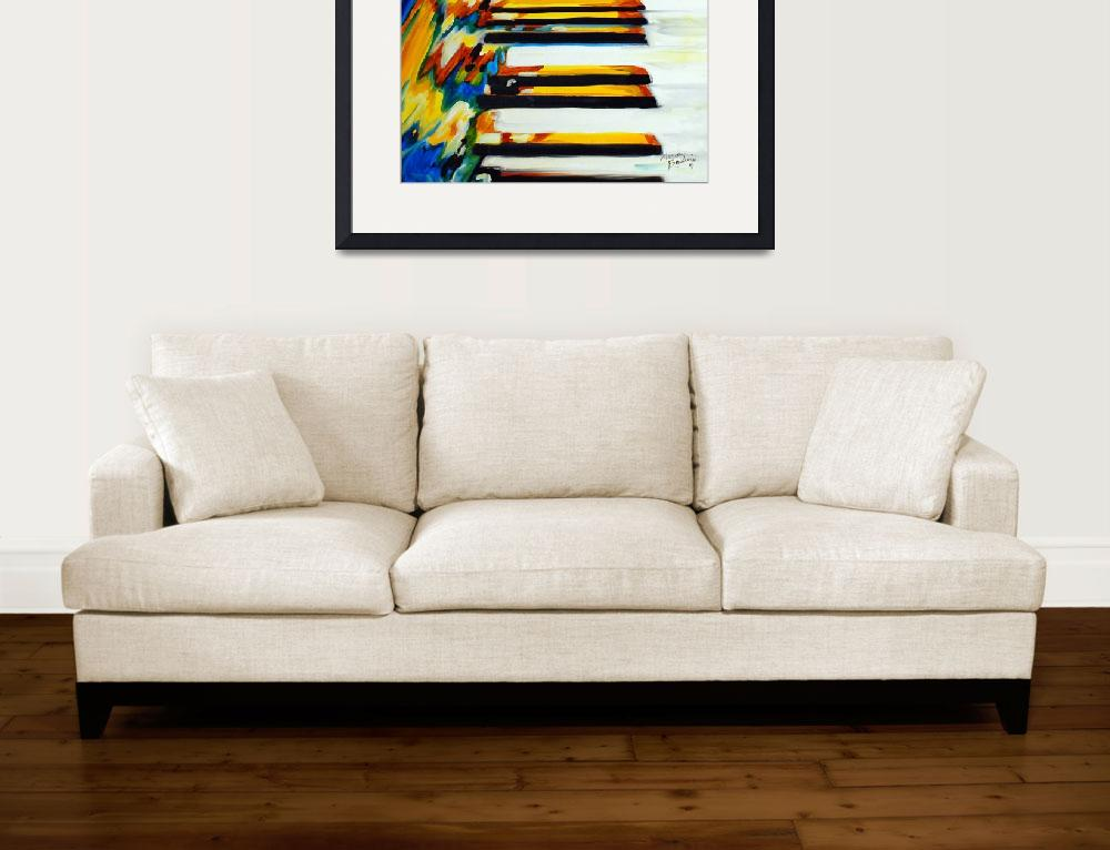 """JAZZ PIANO ABSTRACT&quot  (2011) by MBaldwinFineArt2006"