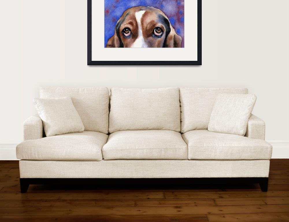 """""Basset Hound""&quot  (2007) by k9artgallery"