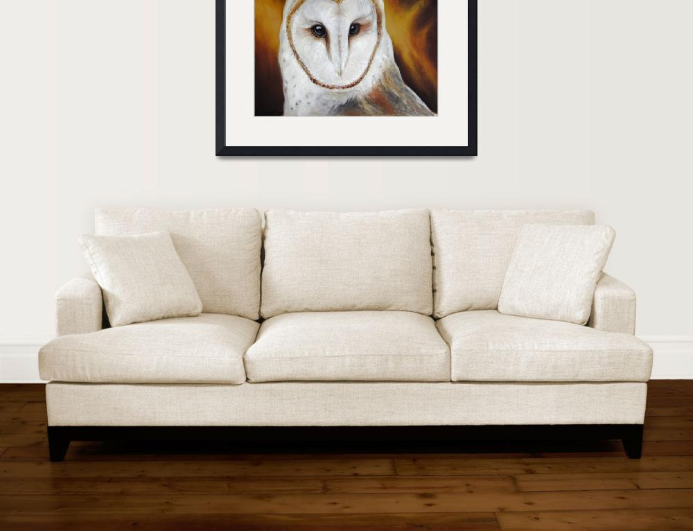 """Barn Owl&quot  (2011) by artdeep"