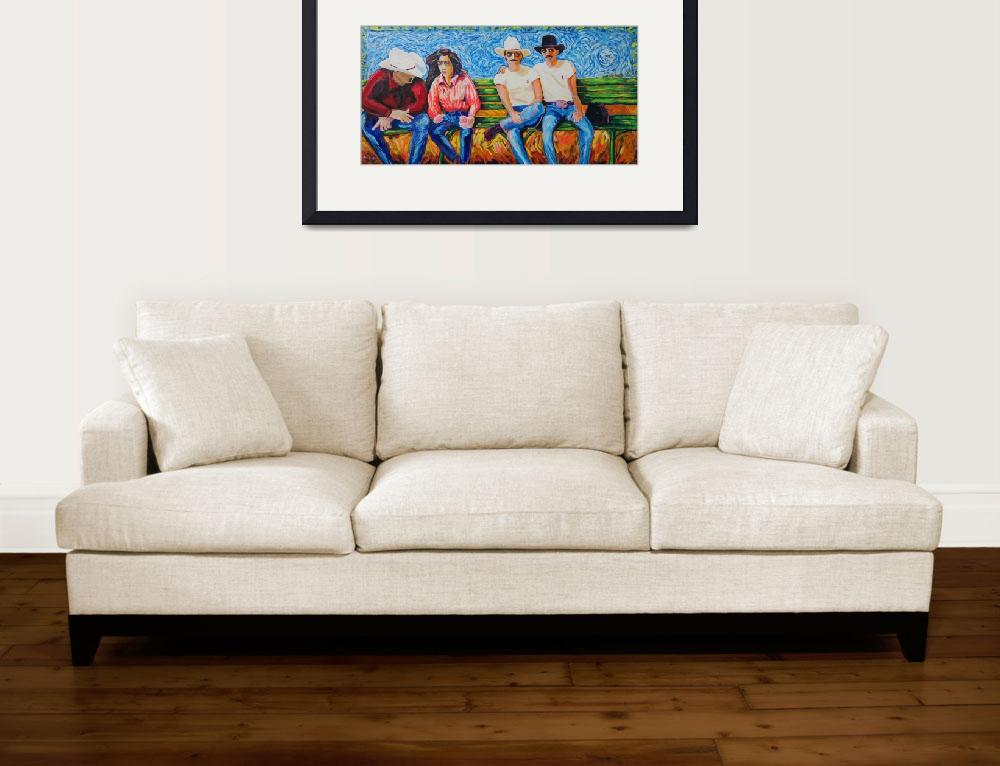 """Spectator Bench LGBT Rodeo&quot  by BeaconArtWorksCorporation"