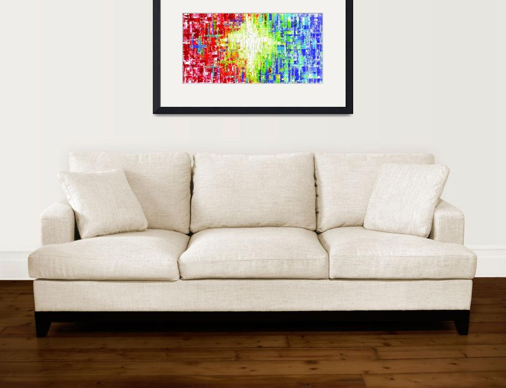 """Abstract Multicolor&quot  by modernhouseart"