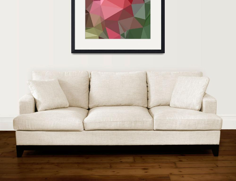 """Congo Pink Abstract Low Polygon Background&quot  (2015) by patrimonio"