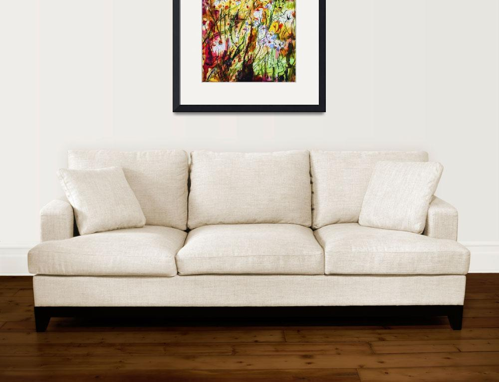 """Chamomile Flowers Decorative Contemporary&quot  (2015) by GinetteCallaway"