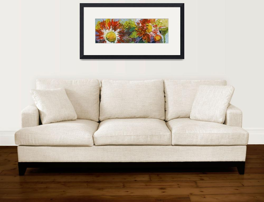 """Asters Flowers Large Decorative Modern Art&quot  (2012) by GinetteCallaway"