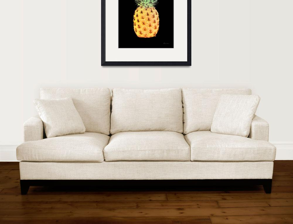 """14r Abstract Expressive Pineapple Digital Art&quot  by Ricardos"