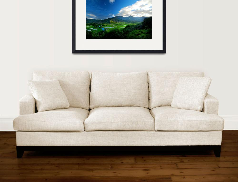 """Hanalei River Valley, Kauai&quot  (2010) by PadgettGallery"