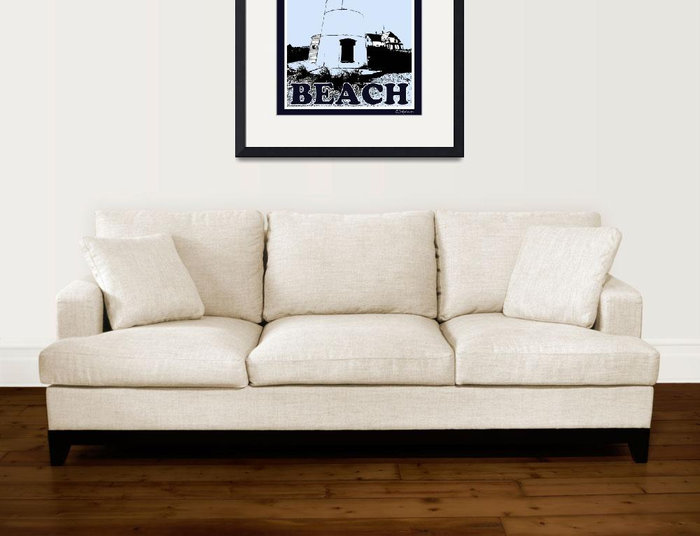 """Cape Cod Beach - Poster&quot  (2008) by Black_White_Photos"