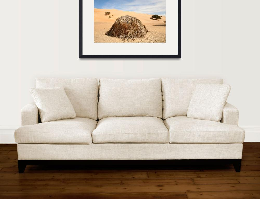 """Grass Hut in the Sahara&quot  (2009) by AndreaMoorePhotography"