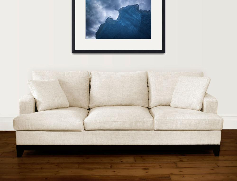 """Beached Iceberg and Storm Clouds&quot  (2013) by SederquistPhotography"