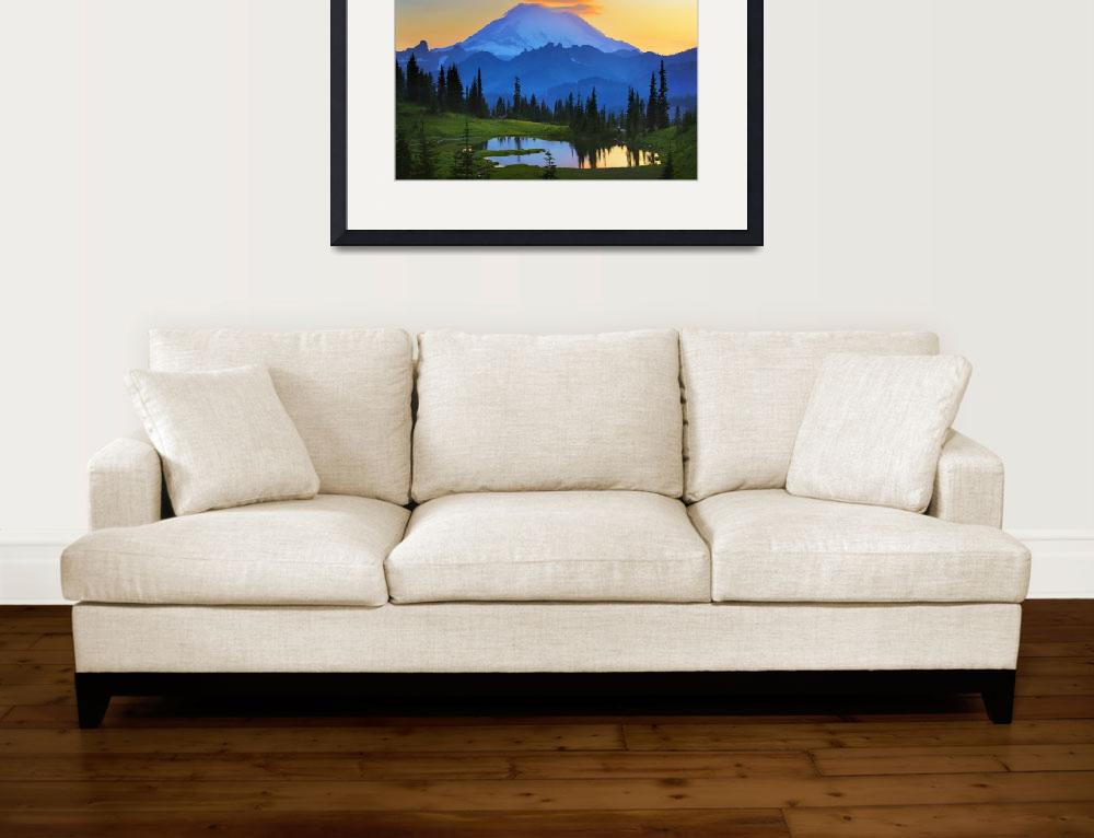 """Mount Rainier Goodnight&quot  (2009) by Inge-Johnsson"