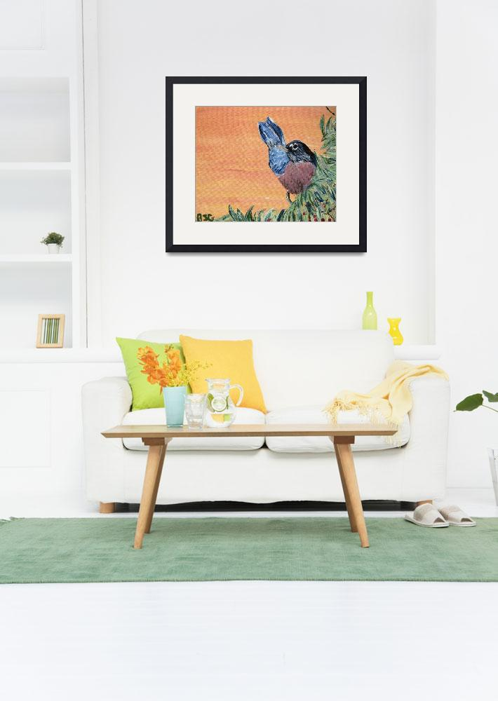 """Robin - Song Bird Painting&quot  (2008) by SunfluerDesigns"