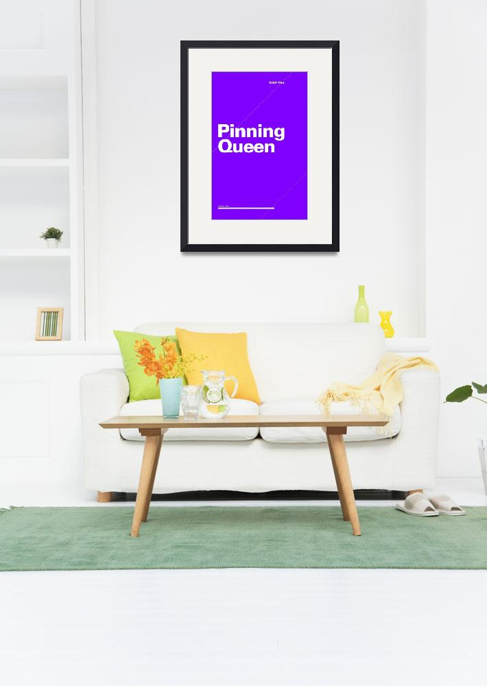 """Pinning Queen typographic poster - Purple and Whit&quot  (2012) by kken"