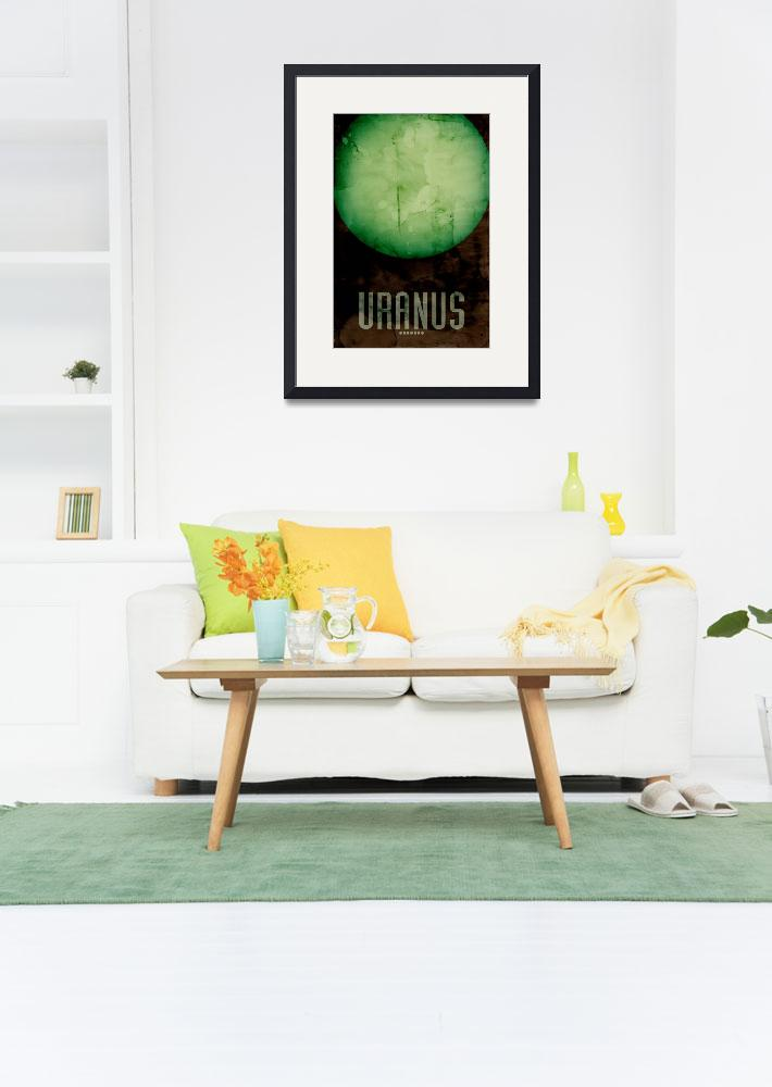 """The Planet Uranus&quot  (2011) by ModernArtPrints"