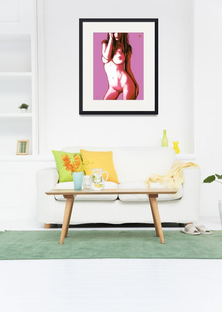 """Pop art nude etching poster&quot  (2014) by visualharbour"