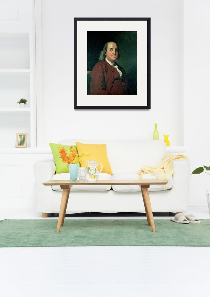 """Benjamin Franklin, 1782&quot  by fineartmasters"