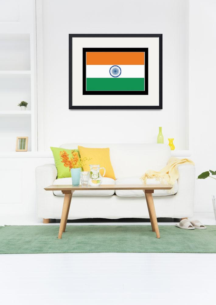 """India Flag&quot  by KWGart"