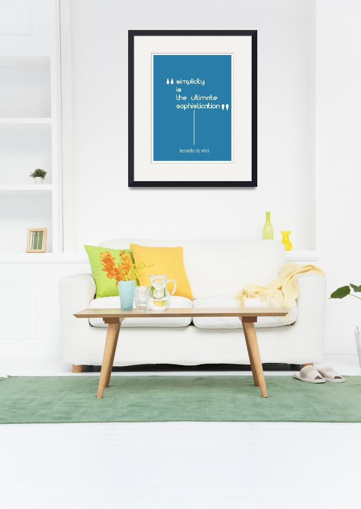 """Simplicity Minimalist Poster&quot  by motionage"
