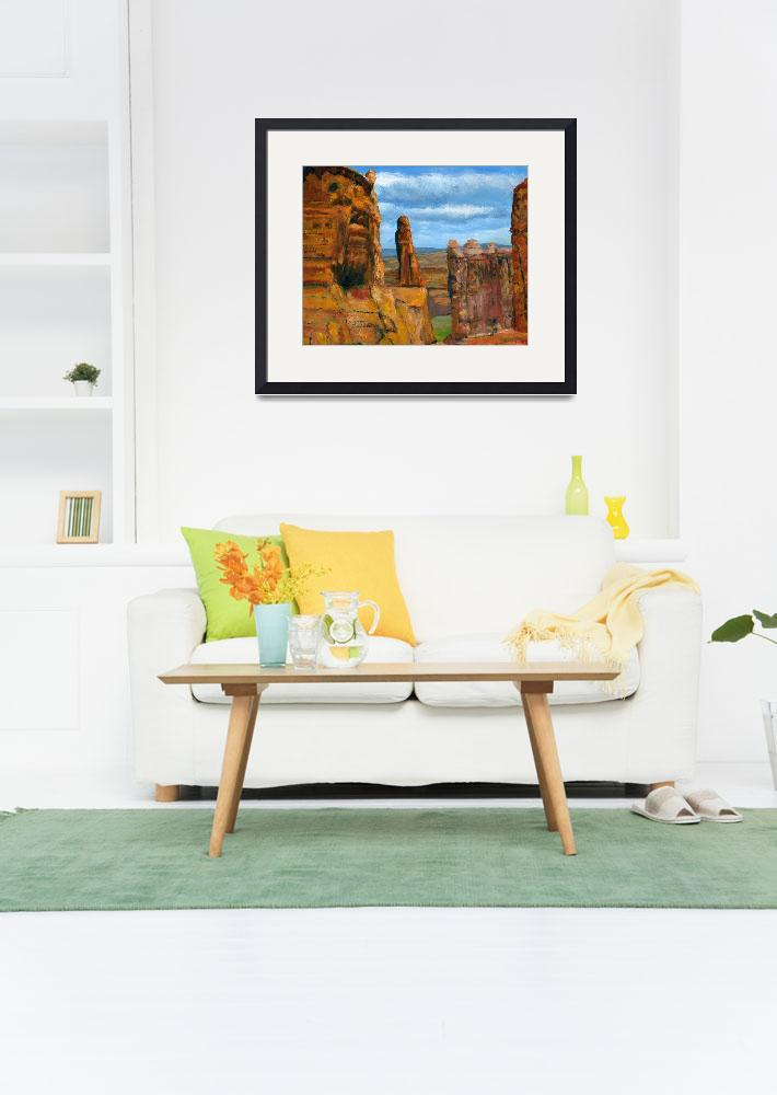 """Impressionist Utah Art; Arches National Park&quot  (2008) by Lenora"