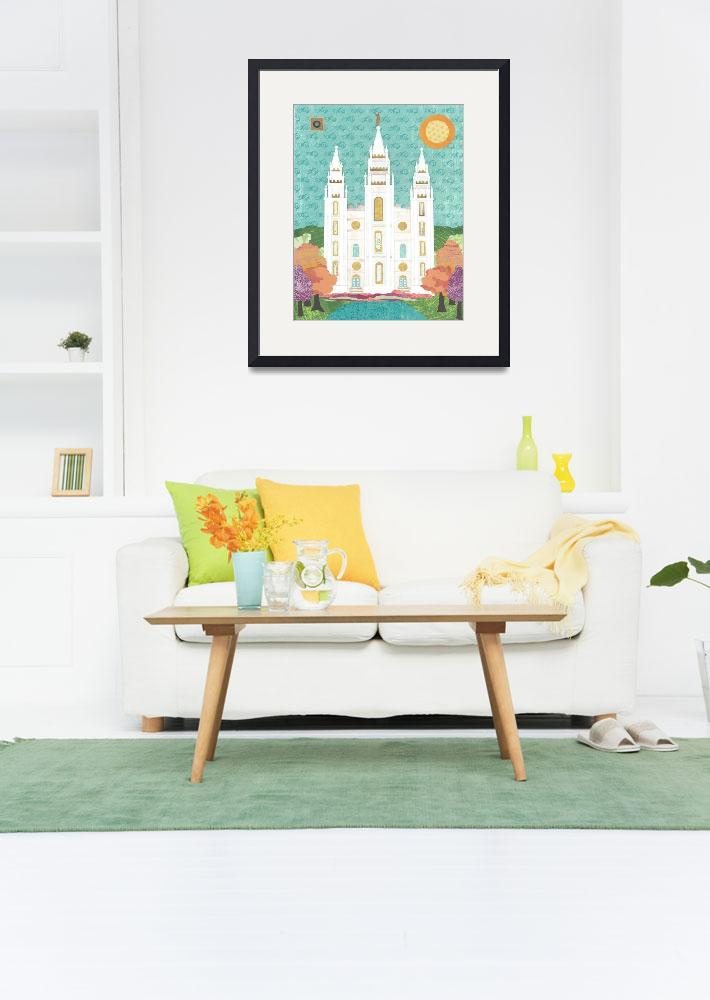 """Salt Lake LDS Temple Bright&quot  (2012) by AZeleskiCollages"