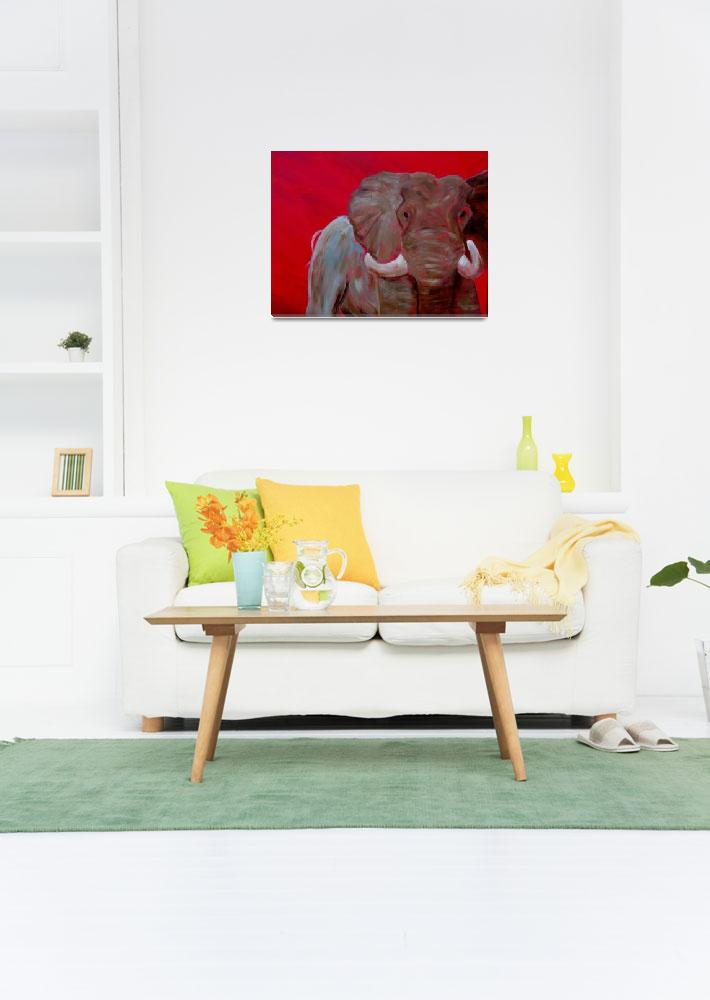 """Elephant in Red&quot  (2012) by dblakey"