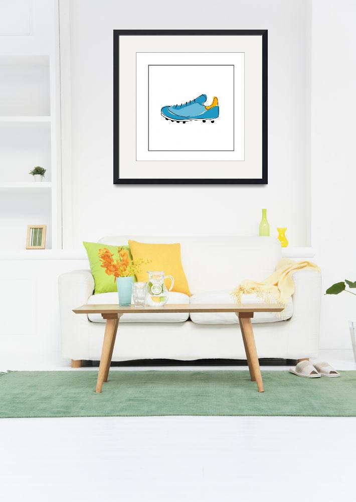 """Blue Running Shoe&quot  by artlicensing"