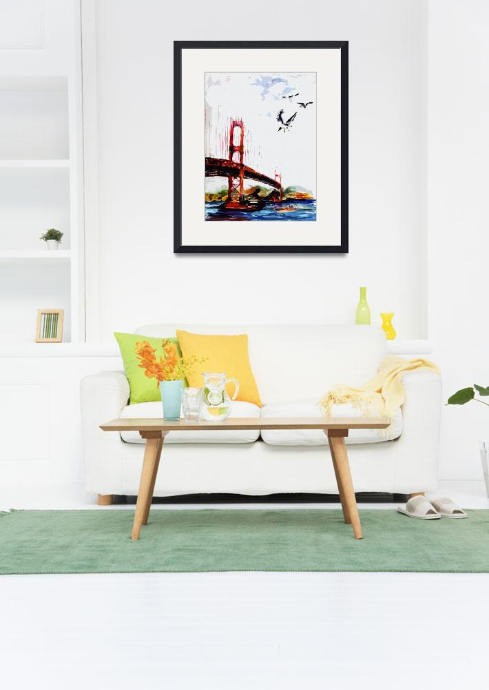 """Golden Gate Bridge San Francisco&quot  (2016) by GinetteCallaway"