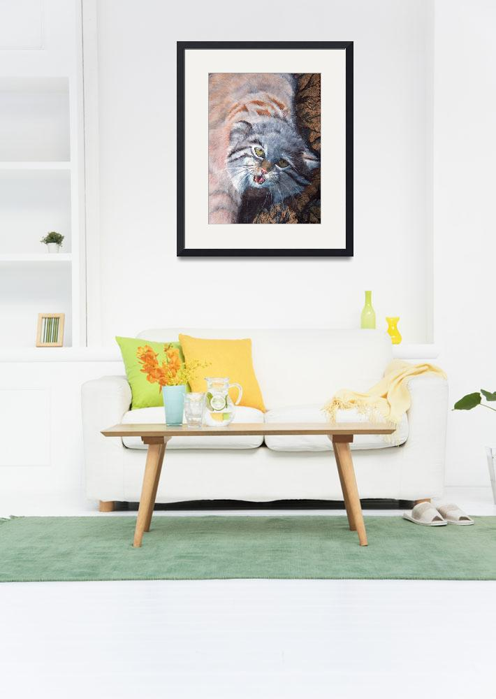 """Pallas cat&quot  by natswildlifeart"