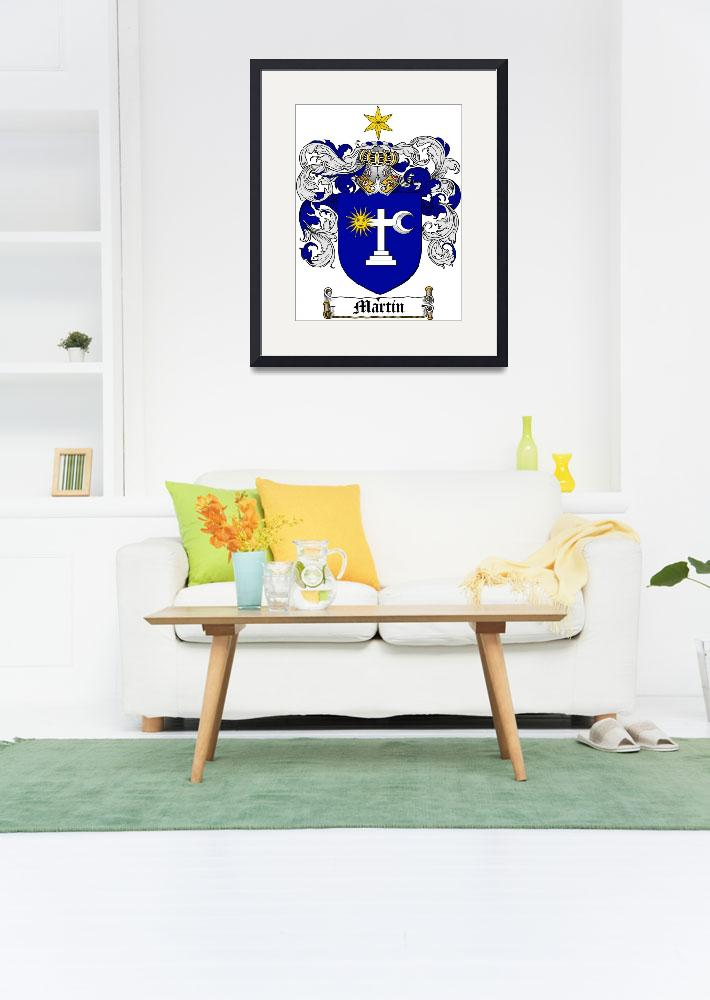 """MARTIN-IRISH FAMILY CREST - COAT OF ARMS&quot  by coatofarms"
