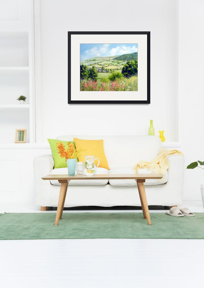 """Summer in the Tanat valley acylic on canvas 60cm x&quot  by stuartparnell"