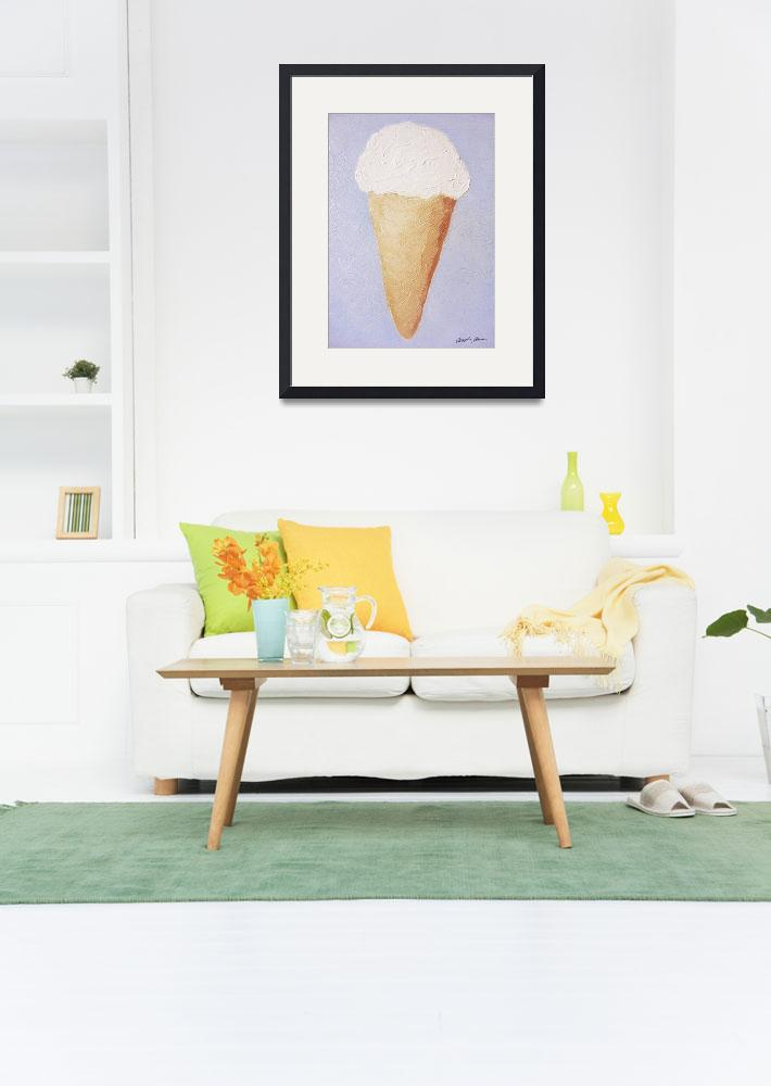 """Ice Cream Cone - Second Oil Painting&quot  by ChristopherInMexico"