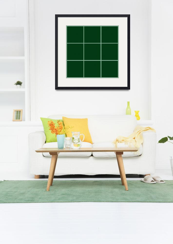 """Green Window 004 Canvas Contemporary Modern&quot  (2010) by Ricardos"