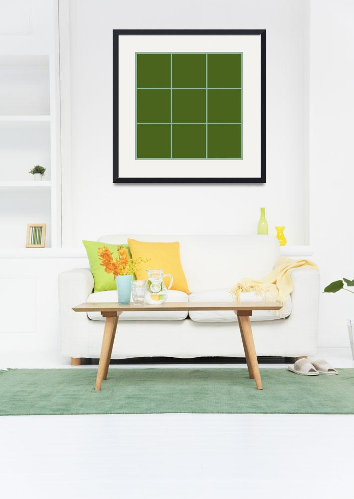 """Green Window 077 Canvas Contemporary Modern&quot  (2010) by Ricardos"