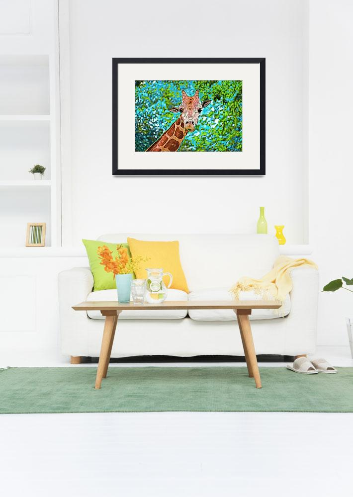 """Giraffe in Photo Paint&quot  by kFergPhotos"